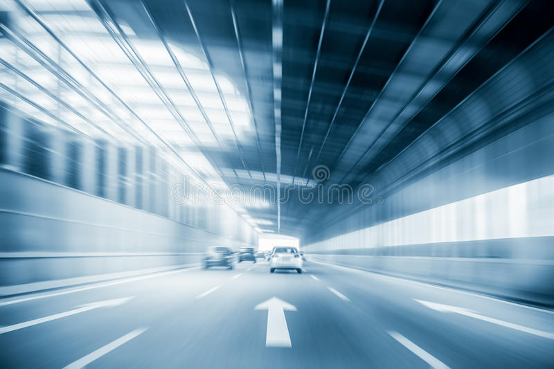 Предпосылка движения скоростной дороги города стоковая фотография rf