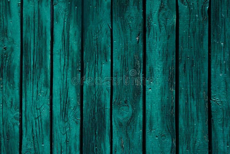 Предпосылка винтажного зеленого цвета мяты деревянная Старая выдержанная зеленая доска текстура Картина стоковое изображение