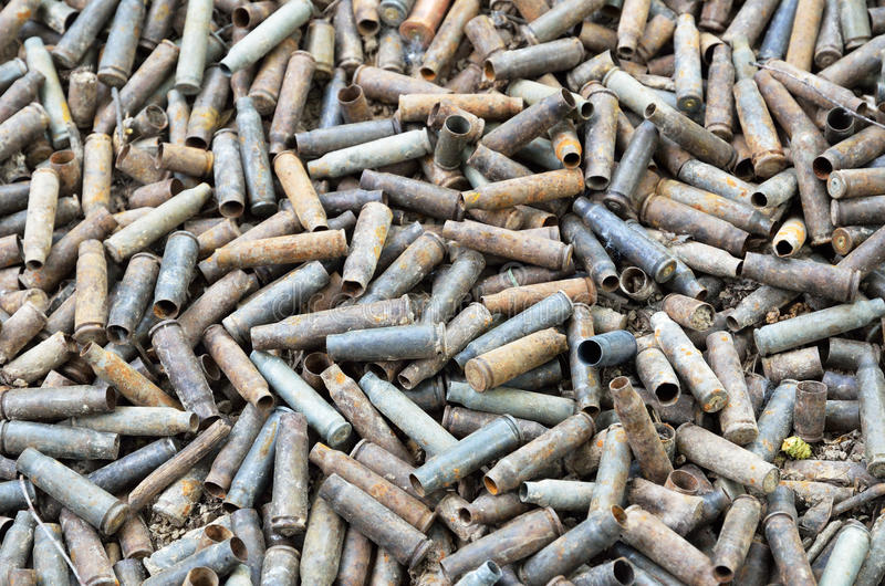 Предпосылка войны используемых раковин стоковое фото