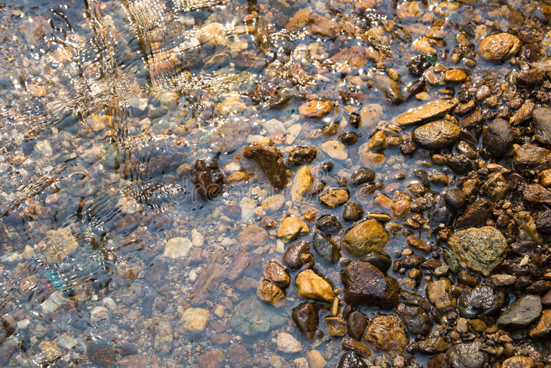 Предпосылка воды и камня стоковые изображения rf