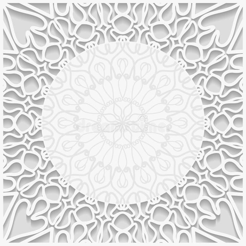 предпосылка выбитая 3D белая иллюстрация вектора