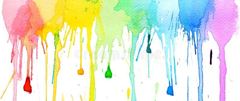 Предпосылка выплеска цвета воды стоковая фотография