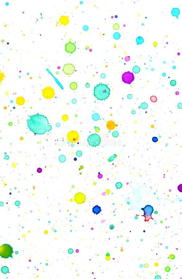 Предпосылка выплеска цвета воды стоковое изображение