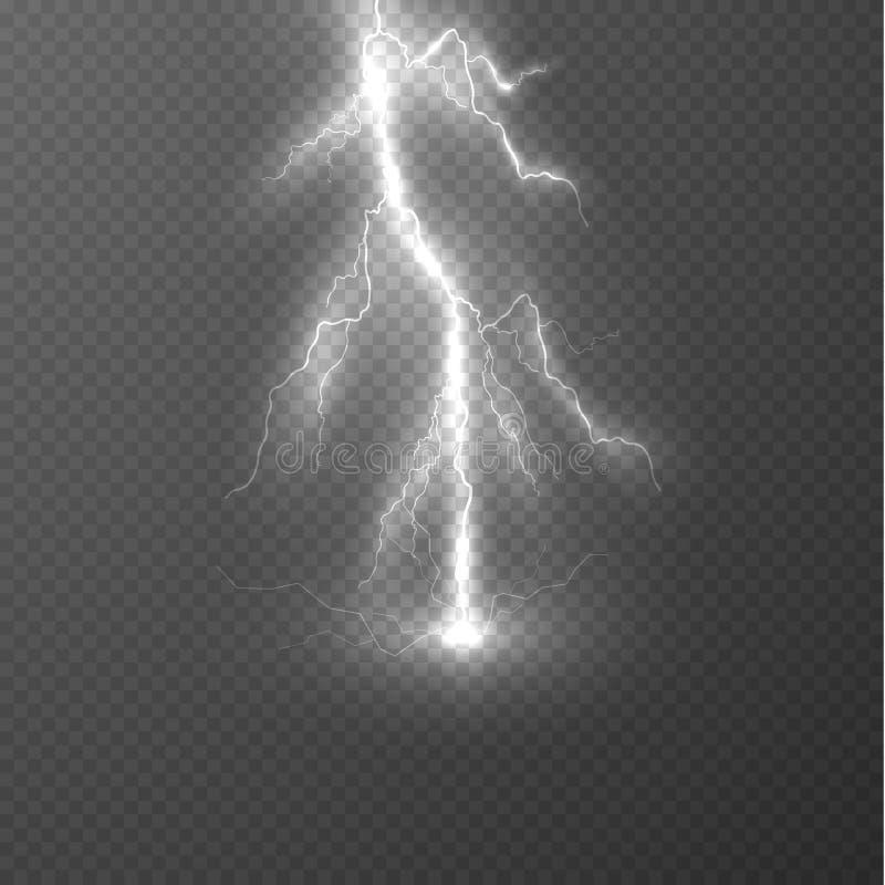 Предпосылка влияния молнии вектора EPS10 иллюстрация вектора