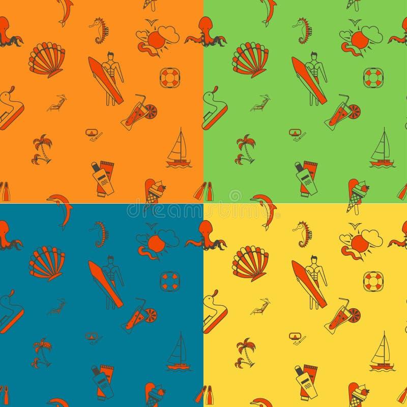 Предпосылка 4 в других цветах иллюстрация штока