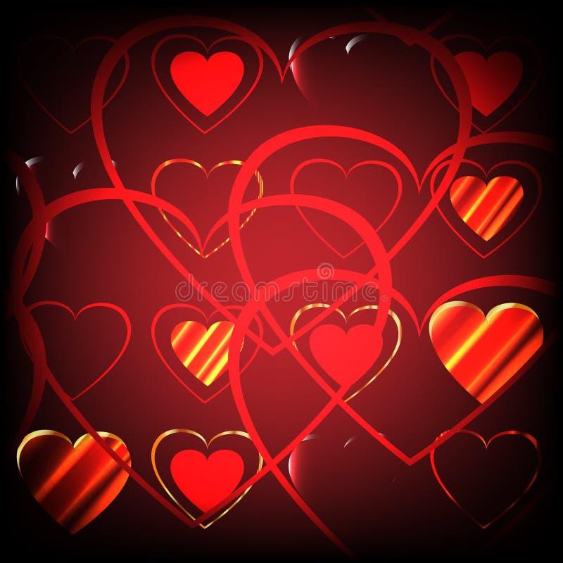 Предпосылка в форме сердец стоковое фото rf
