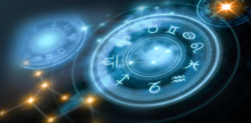 Предпосылка гороскопа астрологии иллюстрация штока