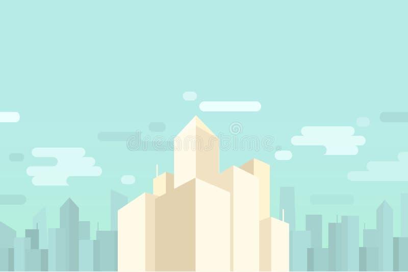 Предпосылка городского пейзажа и небоскребов стоковые изображения rf