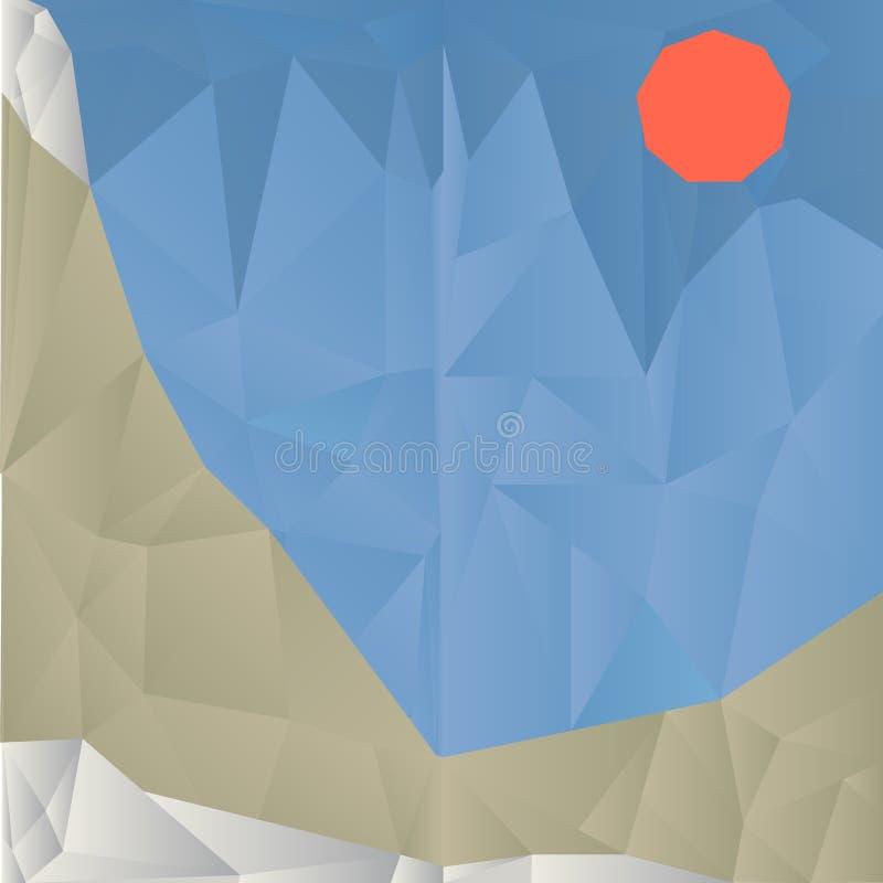 Предпосылка горы треугольника геометрическая стоковое изображение