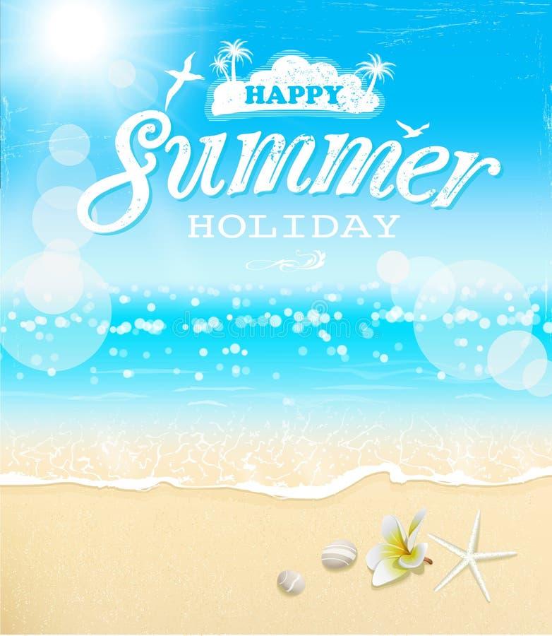 Предпосылка года сбора винограда летних отпусков иллюстрация штока
