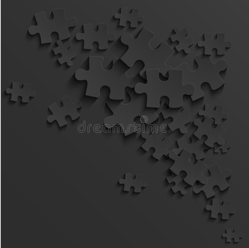 Предпосылка головоломки вектора современная черная иллюстрация штока