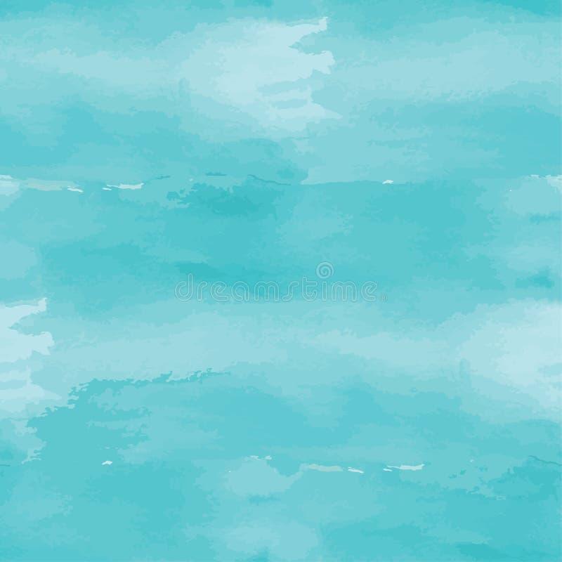 Предпосылка голубой абстрактной акварели безшовная бесплатная иллюстрация