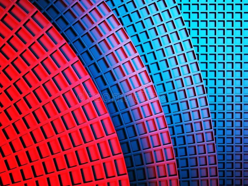 Предпосылка голубых красных площадей абстрактная иллюстрация штока