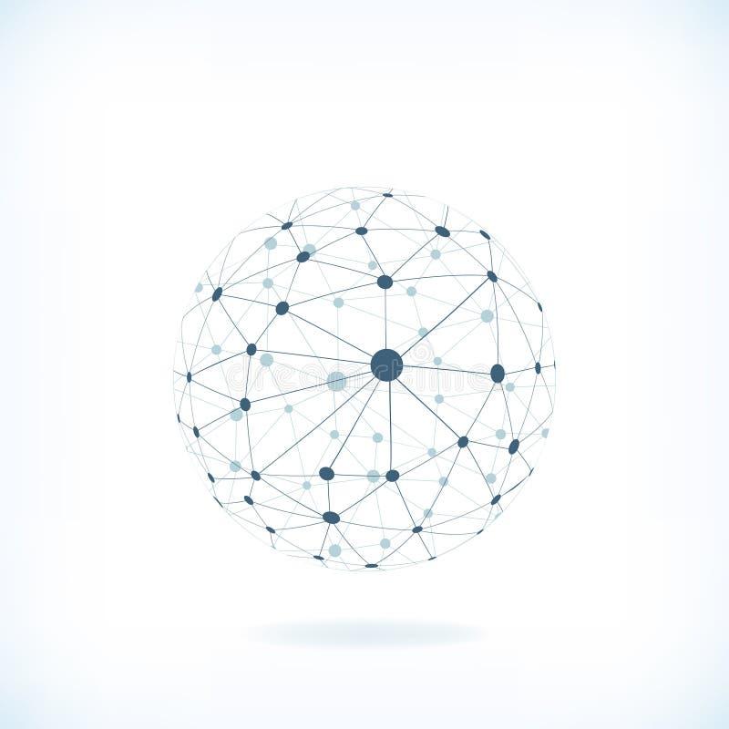 Предпосылка глобальной вычислительной сети иллюстрация штока