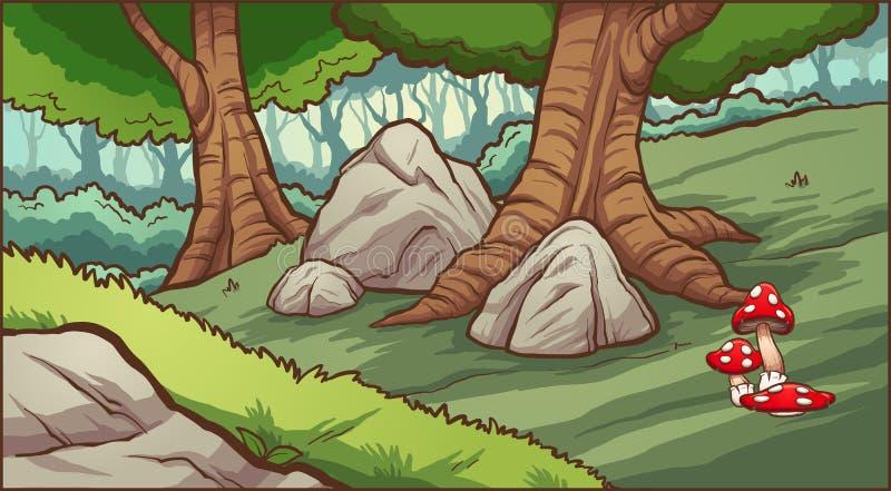 Предпосылка леса шаржа бесплатная иллюстрация