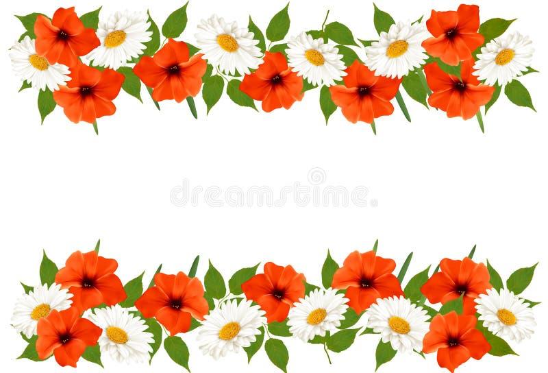 Download Предпосылка лета с красочными красивыми цветками Вектор Illust Иллюстрация вектора - иллюстрации насчитывающей свеже, карточка: 41657194