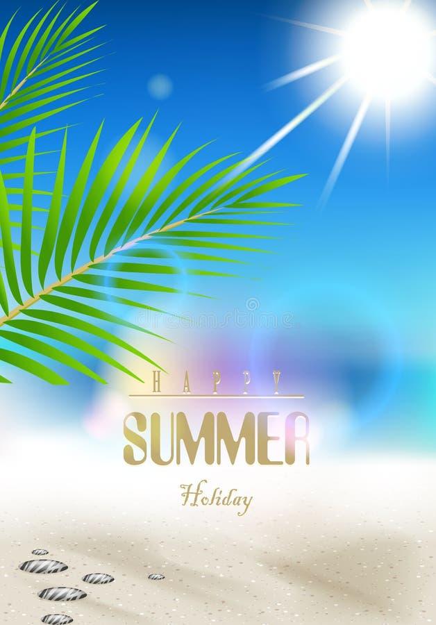 Предпосылка летних отпусков с фильмом рамки иллюстрация вектора
