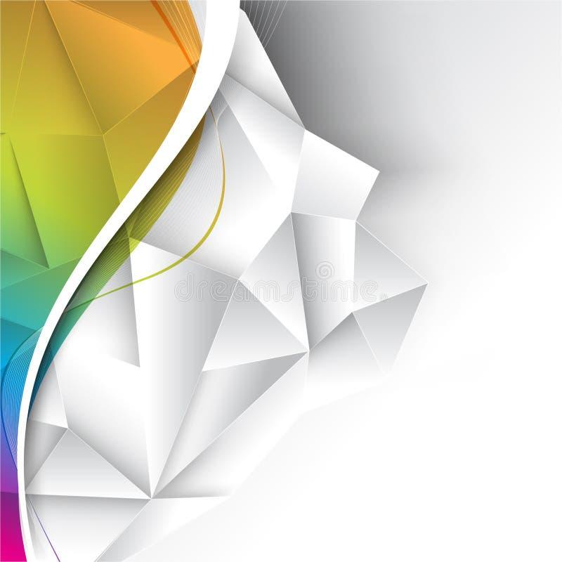 Предпосылка дела вектора multicolor иллюстрация вектора