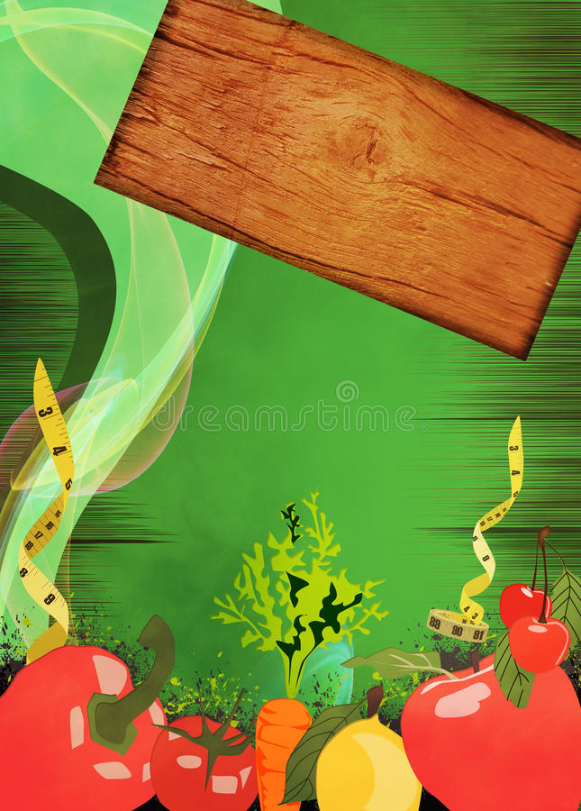 Предпосылка еды диеты бесплатная иллюстрация