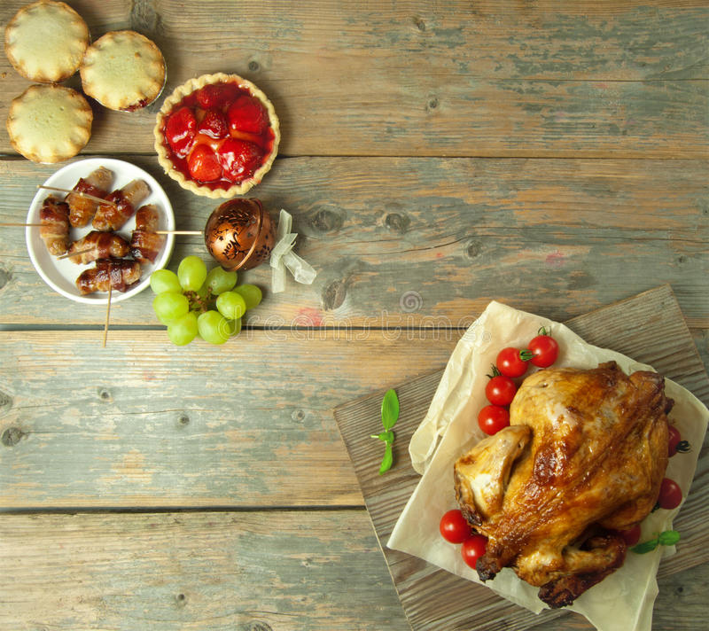 Предпосылка еды рождества стоковые изображения