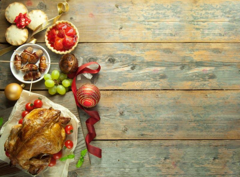 Предпосылка еды рождества стоковая фотография rf