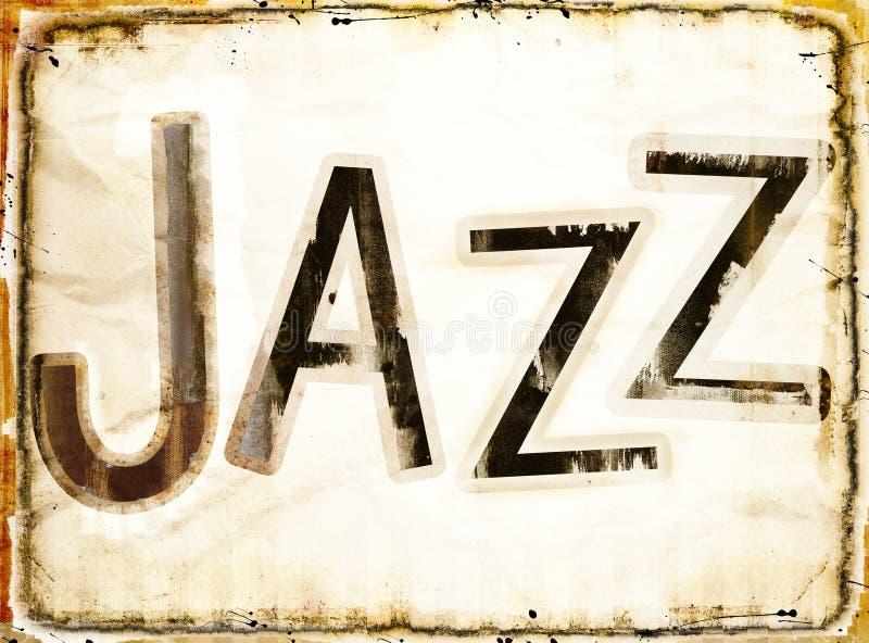 Предпосылка джаза Grunge иллюстрация вектора