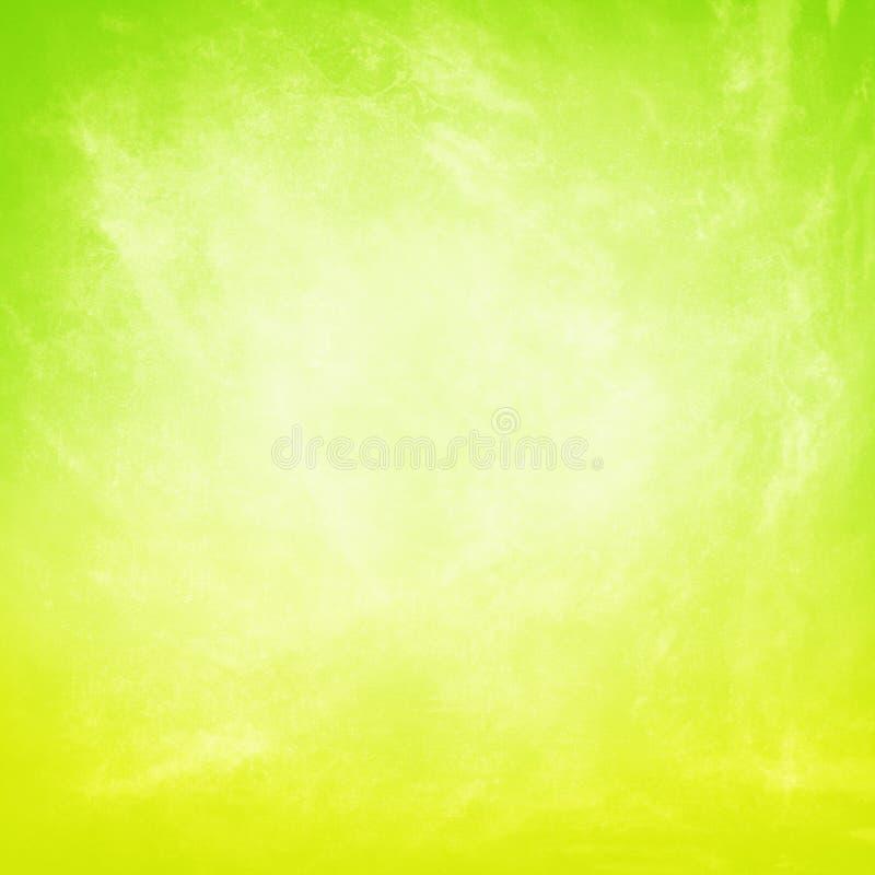Предпосылка желтого зеленого цвета Grunge стоковые изображения rf
