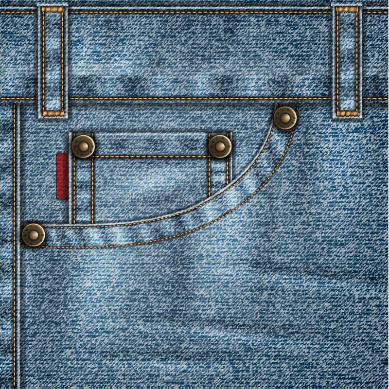 Предпосылка джинсов иллюстрация вектора