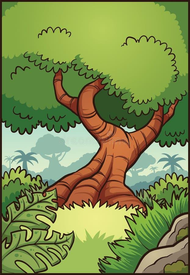Предпосылка джунглей иллюстрация штока
