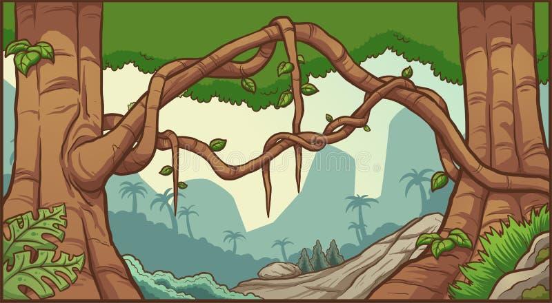 Предпосылка джунглей иллюстрация вектора