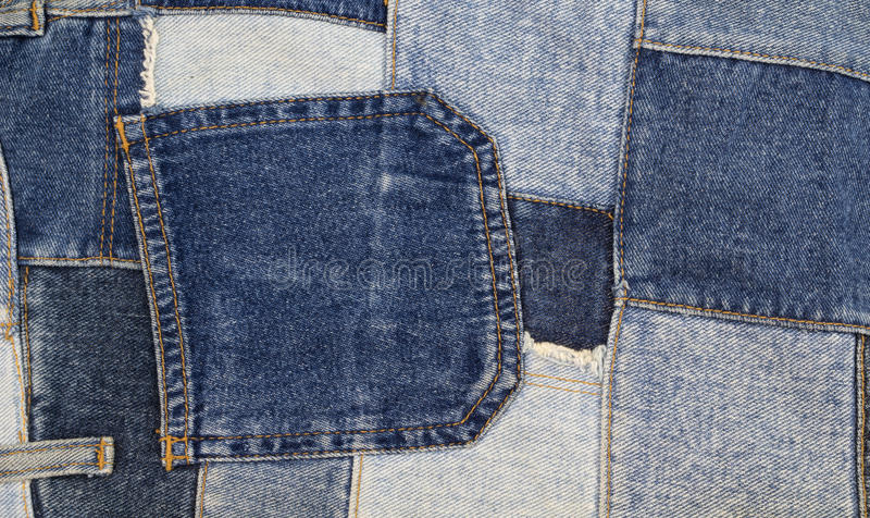 Предпосылка заплатки джинсов, заплатка джинсовой ткани стоковые фотографии rf