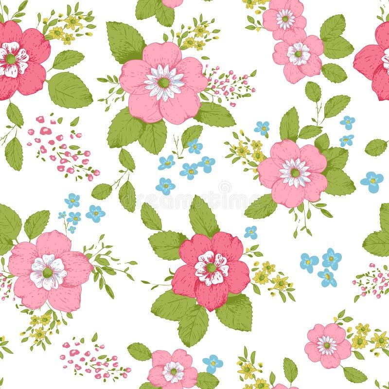 Предпосылка затрапезного шика розовая иллюстрация штока