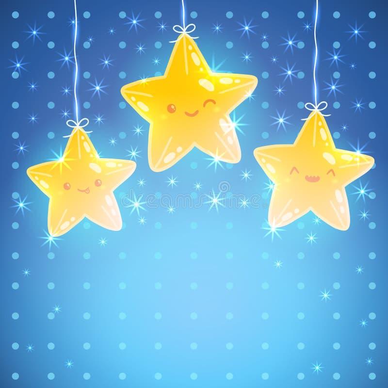 Предпосылка звезды. Иллюстрация вектора спокойной ночи иллюстрация вектора