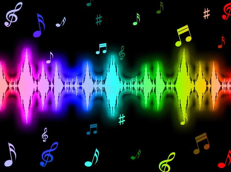 Предпосылка звуковой войны значит график энергии иллюстрация вектора