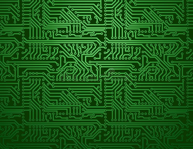 Предпосылка зеленого цвета монтажной платы вектора бесплатная иллюстрация