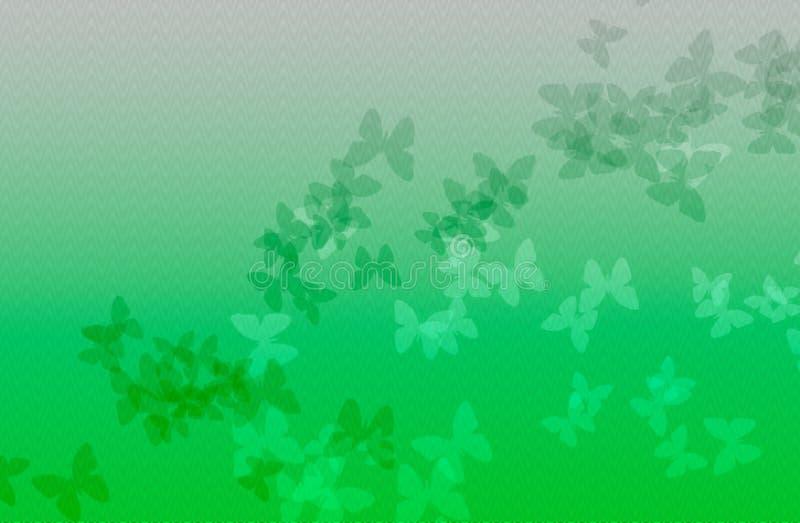 Предпосылка зеленой волны с бабочкой иллюстрация штока