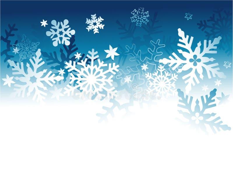 Предпосылка зимнего отдыха с снежинками иллюстрация вектора