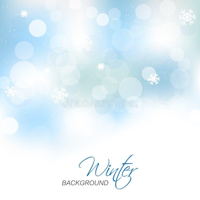 Предпосылка зимы для поздравительной открытки рождества иллюстрация вектора