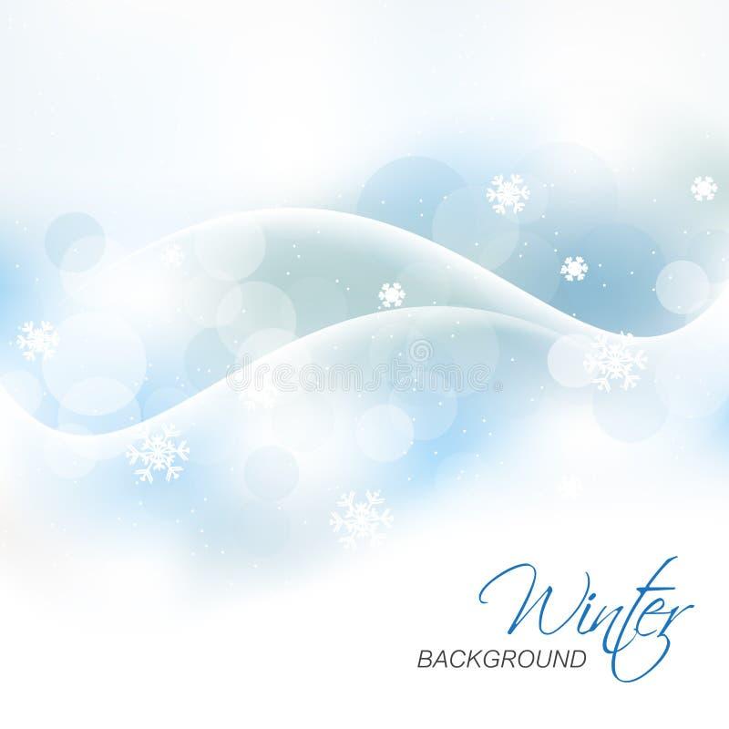 Предпосылка зимы для поздравительной открытки рождества бесплатная иллюстрация