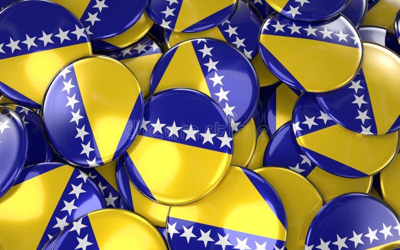Предпосылка значков Босния и Герцеговина - куча Боснии бесплатная иллюстрация