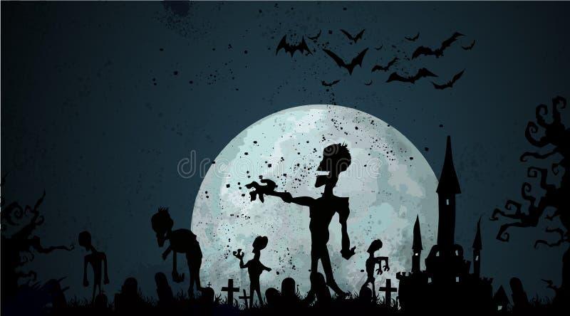 Предпосылка зомби хеллоуина бесплатная иллюстрация
