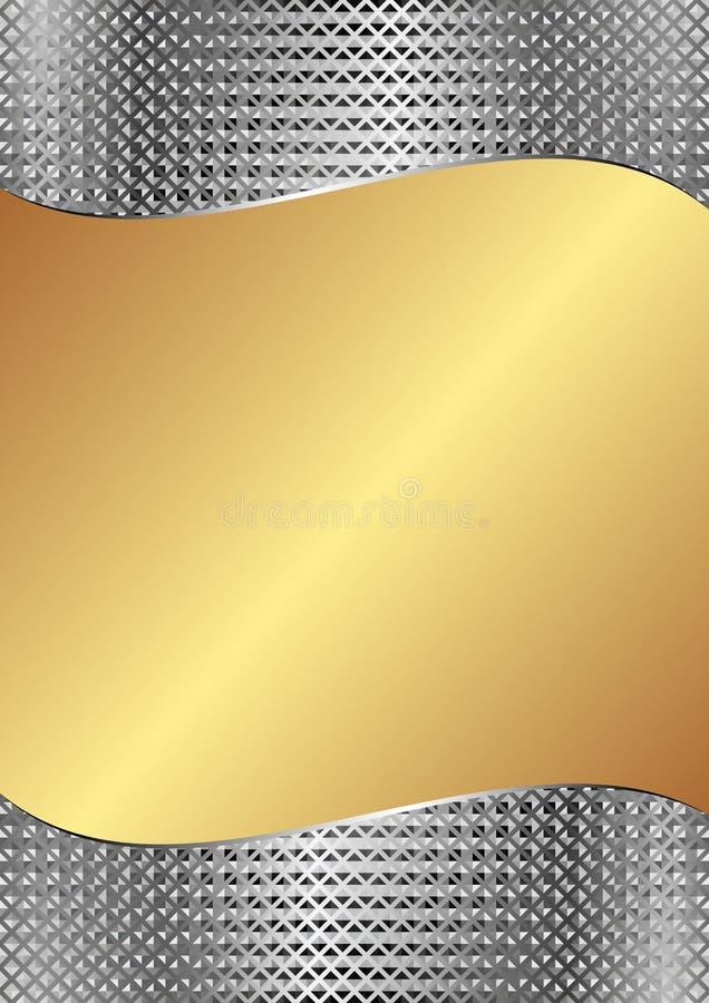 Предпосылка золота иллюстрация штока