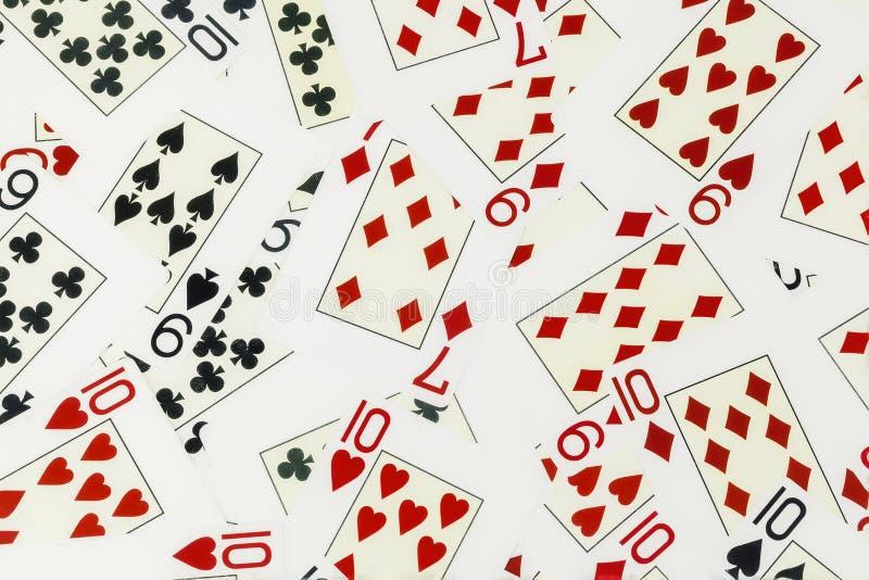 Предпосылка играя карточек стоковая фотография rf