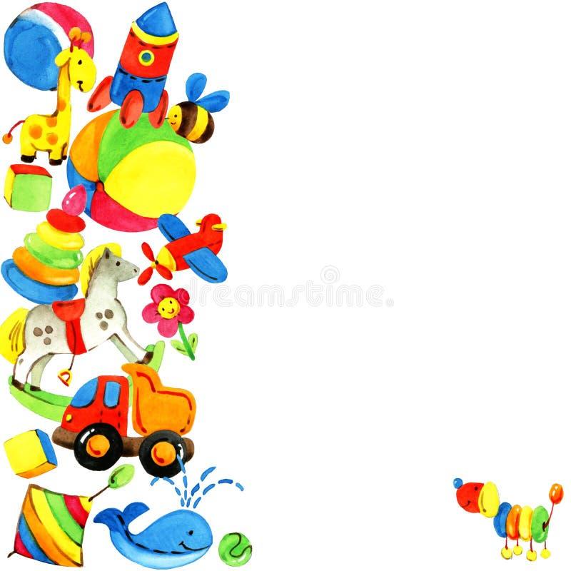 Предпосылка игрушки для детей иллюстрация вектора