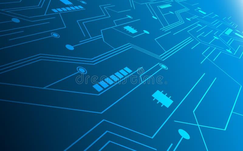 Предпосылка дизайна картины высокой технологии цепи концепции нововведения абстрактной технологии будущая иллюстрация штока