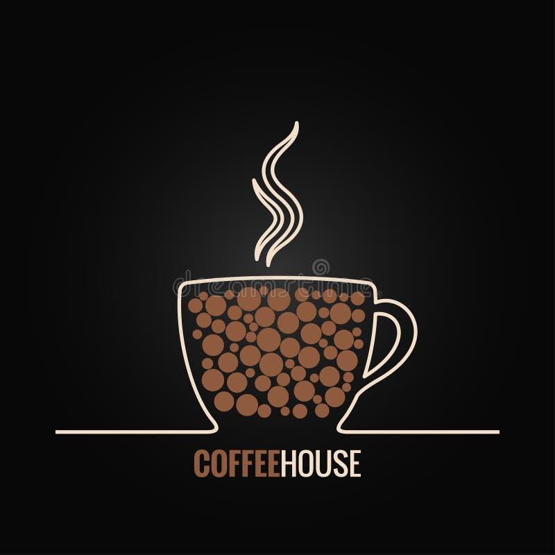 Предпосылка дизайна меню кофейной чашки иллюстрация штока