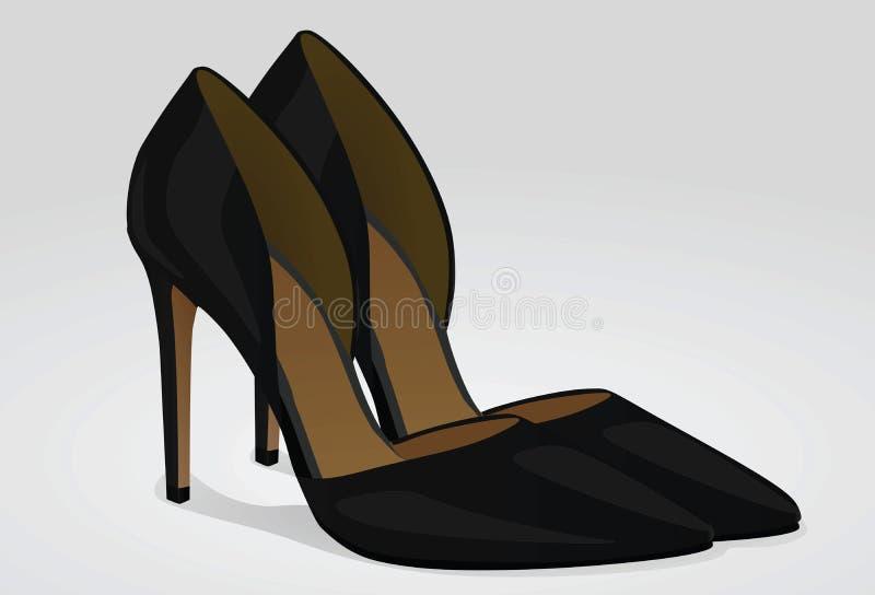 предпосылка изолированная над женщиной ботинок белой иллюстрация штока