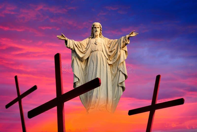 Предпосылка Иисуса пасхи стоковая фотография