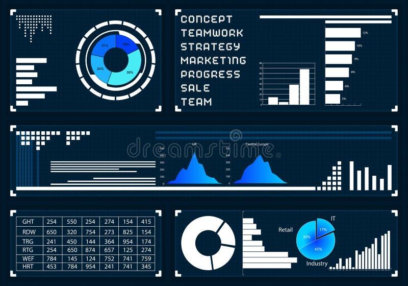 Предпосылка интерфейса средств массовой информации иллюстрация вектора