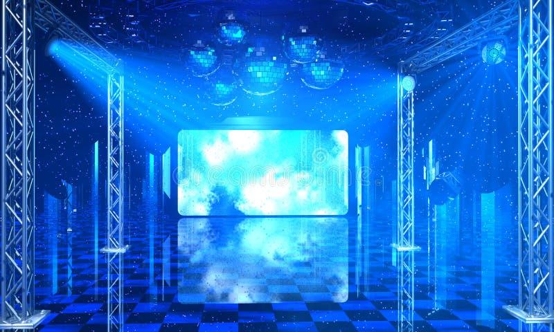 Предпосылка интерьера партии диско иллюстрация штока